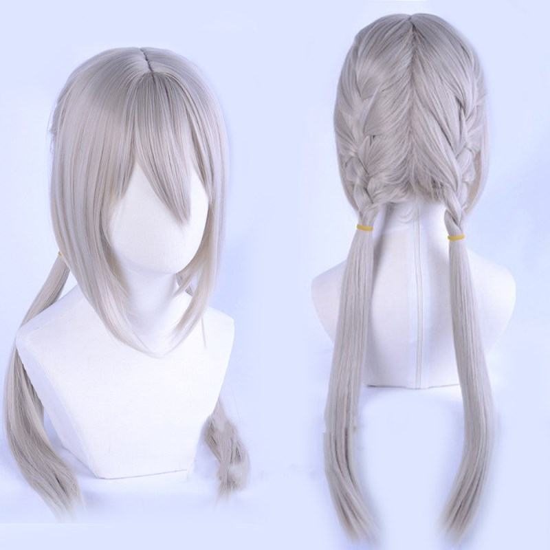 Game Stay Night FGO Fate Grand Order Bedivere Cosplay Wig Braids Knights of the Round Table Hair Role Play