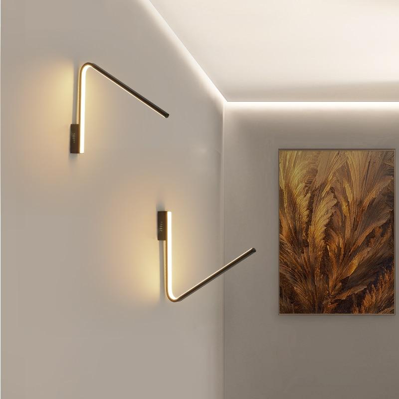 Chandelierrec Modern LED L shape wall lamp for living room bedroom home wall lighting sconce aluminum wall lights bracket lights|LED Indoor Wall Lamps| |  -