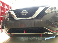 Exterior ! For Nissan Murano 2015 2016 ABS Front Bumper Protection Lid Cover Trim 1 Pcs цена