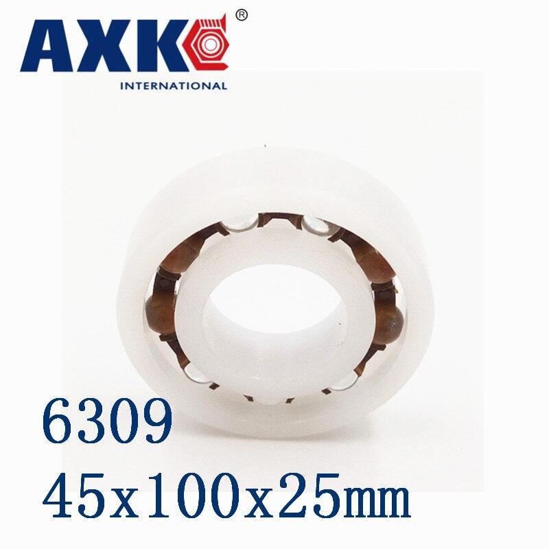 2018 New Sale Thrust Bearing Axk 6309 Pom (10pcs) Plastic Ball Bearings 45x100x25mm Glass Balls 45mm/100mm/25mm 6310 pom 10pcs plastic ball bearings 50x110x27mm glass balls 50mm 110mm 27mm
