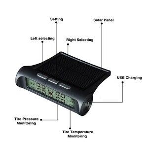 Image 2 - Hippcron Tire Pressure Alarm Sensor Monitor System Internal / External Tpms Car Display Temperature Warning Solar Power Charging