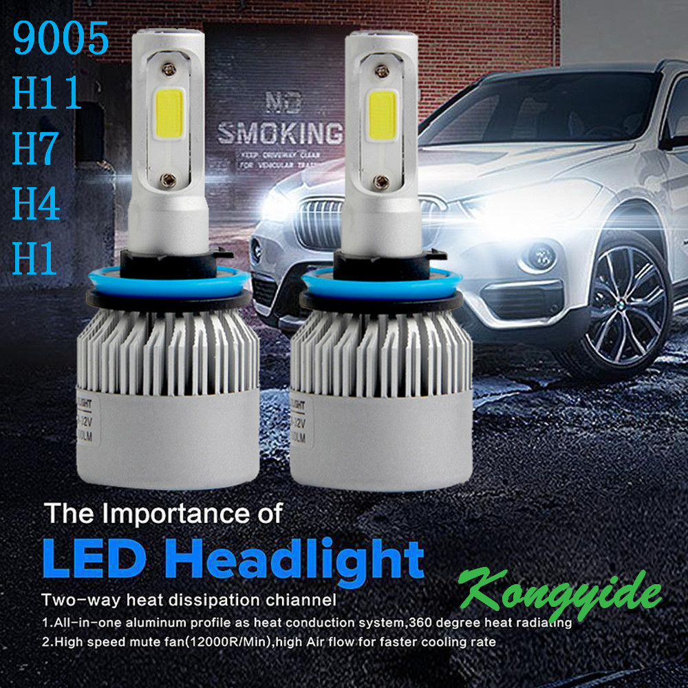 9005 9006 H7 55W 8000LM LED Headlight Conversion Kit Car Beam Bulb Driving Lamp 6000K 2017 Newest Car-styling Automobiles lights