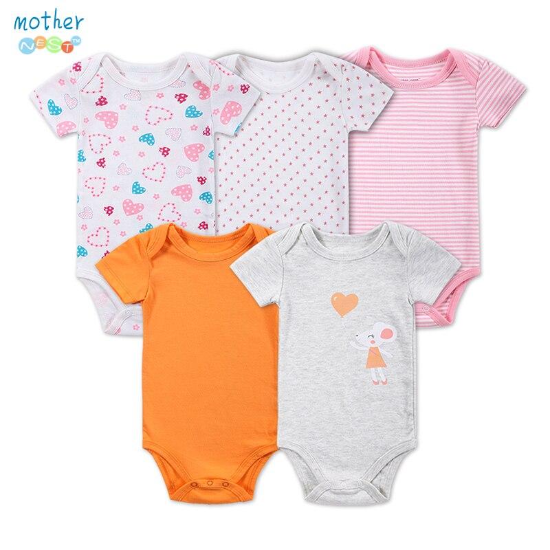 5 Unids / lote Body Bebé Bebé Recién Nacido Body Print Cartes - Ropa de bebé
