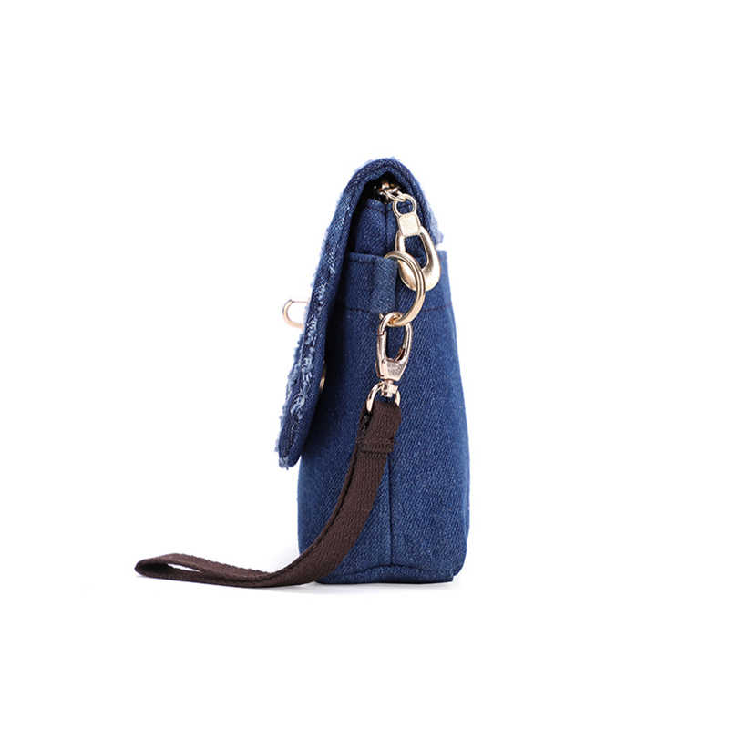 Gykaeo 2019 Mulheres Verão Rua Ocasional Buraco Denim Shoulder Bag Lady Flap Bloqueio Garras Dia À Noite Saco Do Mensageiro Bolsa Feminina