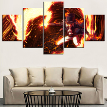 Modern Wall Art Canvas HD Printed Poster 5 Piece Anime One Dragon Man Ace Painting Home Decorative Framework Pictures