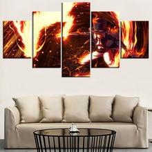 Sabo Fire Fist 5 Piece Canvas Wall Art
