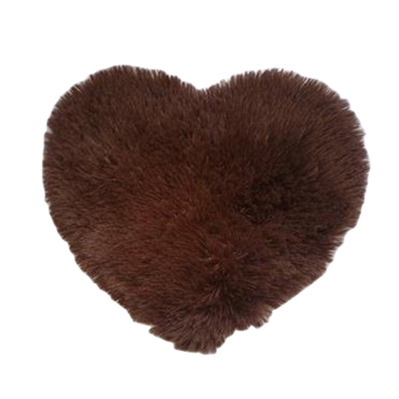 Urijk 1Pc Fluffy Rug Heart Carpets For Living Room Faux