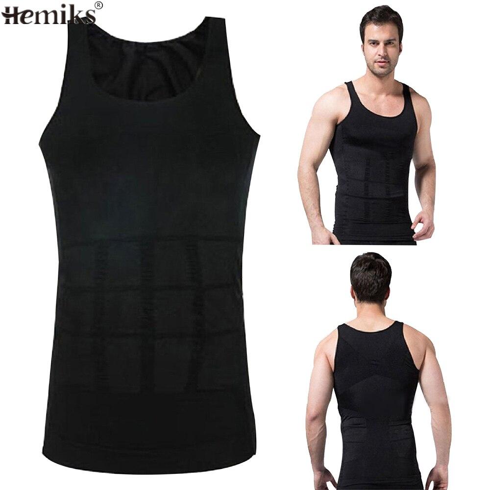 70fb429782 Hemiks Men s Tanks Slimming Body Shaper Vest Belly Buster Compression  Tights Male Slimming Vests Men Fitted Vest Mens Tank Tops -in Shapers from  Underwear ...