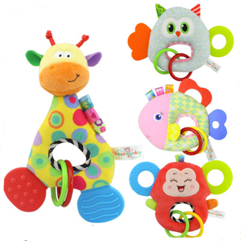 Baby Toy Infant Stuffed Toy Wrist Rattle Infant Crib Stroller Handbells Newborn Appease Early Learning Developmental in Baby Rattles Mobiles from Toys Hobbies