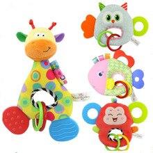 Baby Toy Infant Stuffed Wrist Rattle Crib Stroller Handbells Newborn Appease Early Learning Developmental