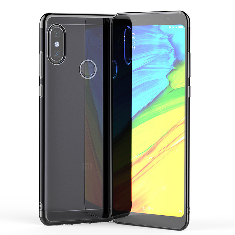 plating soft transparent case xiaomi redmi note 6 5 7 pro  10