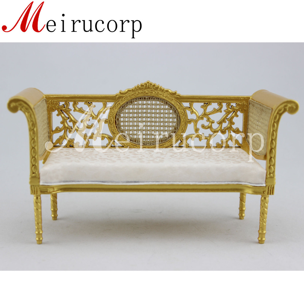 ФОТО Fine 1:12 scale dollhouse miniature furniture luxurious well made love seat