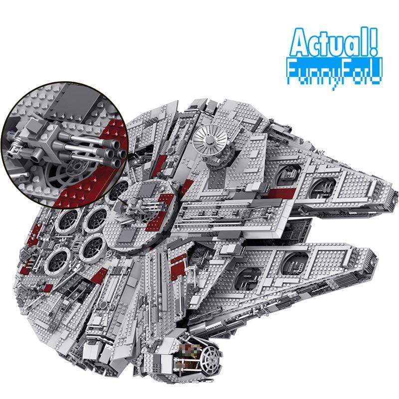 цена на LELE 5382pcs Star Ultimate Collector Millennium Falcon Wars Model Building Blocks Bricks Toys for children 05033 legoINGly 10179