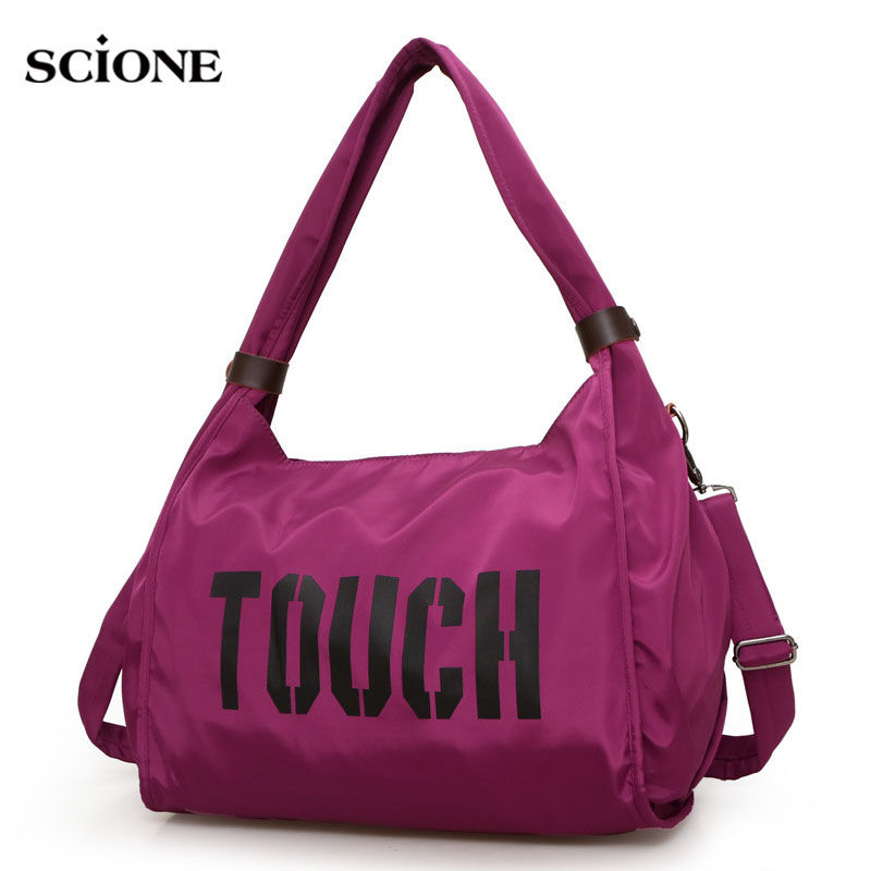 Sport Bag Women Training Gym Fitness Travel Bags Durable Waterproof Nylon Outdoor Sports Handbag Shoulder Tote For Female XA74WA canvas sport bag training gym bag men woman fitness bags durable multifunction handbag outdoor sporting tote for male