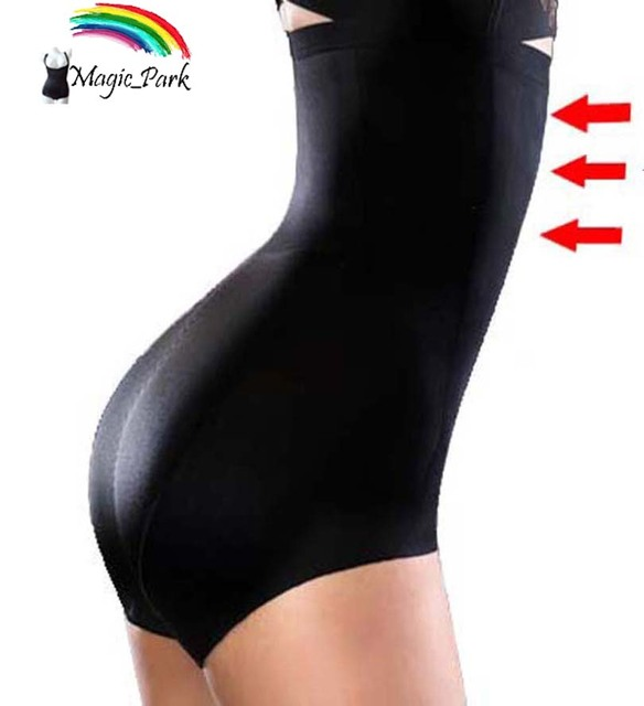 c74fcc8b72a Magic Park Summer Thin Plus size High waist Magic Body shapers Tummy  Control Panties Seamless Shapewear