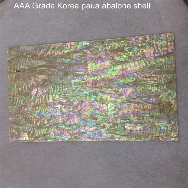 140 240 0 2mm AAA Grade Korea paua abalone shell laminate sheet for musical instrument and