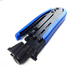 купить Wire Crimping Pliers Wire Cable TV Squeeze Crimping Pliers Cable Clamp For RG59 RG6 RG11 Connector Sealed Waterproof Hand Tool по цене 756.17 рублей