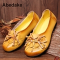 2017 SPRING ABEDAKE BRAND WOMEN FLATS ORGINAL GENUINE LEATHER WOMEN SHOES COMFORTABLE HANDMADE COW LEATHER SHOES