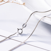 Fashion Mens Womens Sell Silver Jewelry Snake Chain Necklace 16 24inch 100% Real 925 Sterling Silver Chain Necklace For Gift