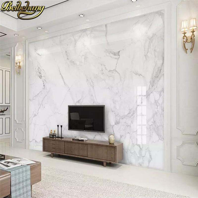 Beibehang Custom Photo Wallpaper 3D Mural Wallpaper Living Room Bedroom Sofa Backdrop Photo Wall Murals White Marble Wallpaper