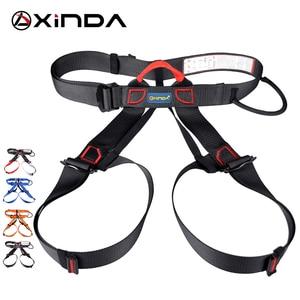 Image 2 - Xinda Professional Outdoor Sports pas bezpieczeństwa wspinaczka skałkowa Outfitting uprząż pas wspierający pół szelki Aerial Survival