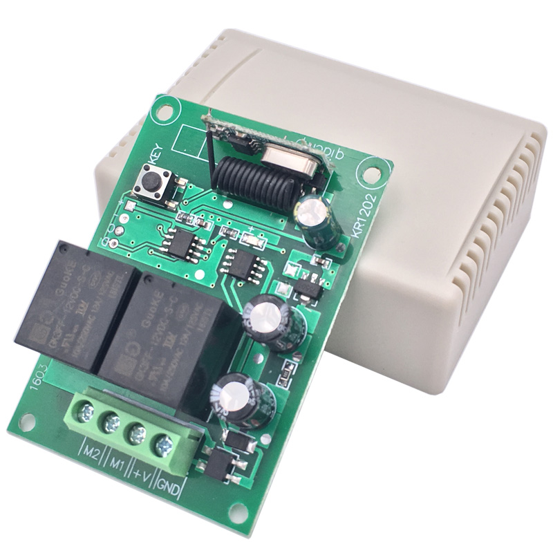Switch current direction 433MHz Remote Control Switch DC 12V Relay Receiver Module RF For garage door gate curtain motor