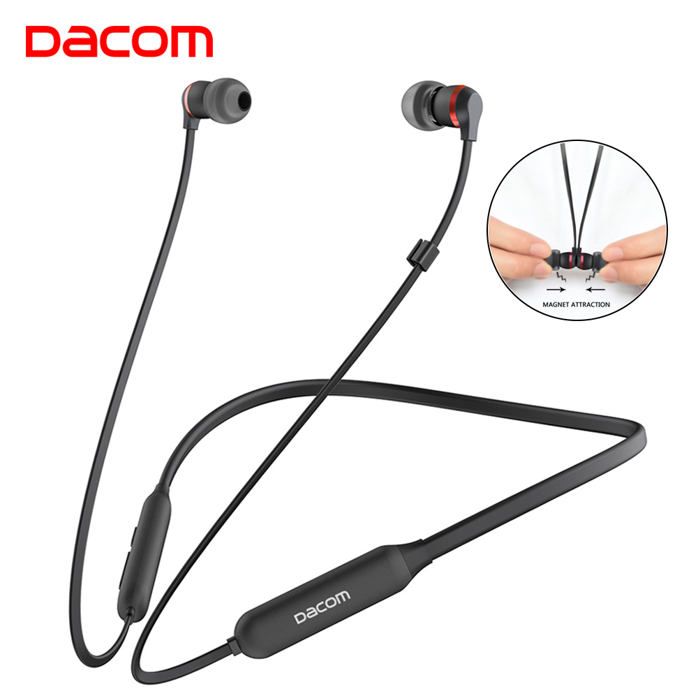DACOM L06 Bluetooth Headphones Wireless Sports Stereo Bass Headset with Mic Graphene Noise Cancelling Earphone for Phone iPhone 2016 noise cancelling wireless sleep headphones stereo 2 4ghz bluetooth headset for listenting music answering phone eye mask