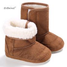 E amp Bainel Nowa zima Super ciepły noworodek dziewczynki First Walkers buty niemowlę maluch Soft Rubber Soled antypoślizgowe buty Booties tanie tanio Dziecko Stałe Płytkie Pasuje do rozmiaru Weź swój normalny rozmiar E BAINEL Tkanina bawełniana Slip-on Bawełna Dziewczynka