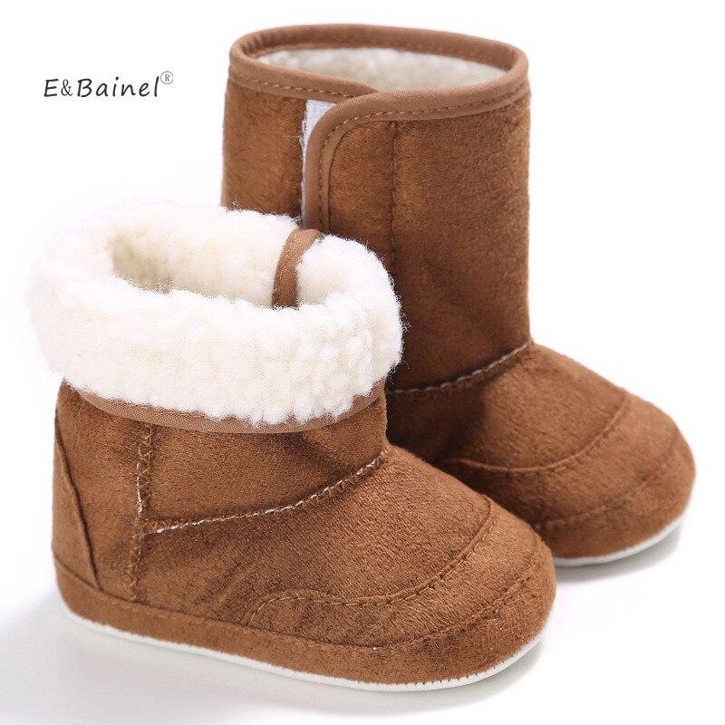 E & bainel новые зимние супер теплый для новорожденных Обувь для девочек Обувь для малышей Обувь младенческой малыша мягкой резиновой подошве против скольжения сапоги и ботинки для девочек пинетки