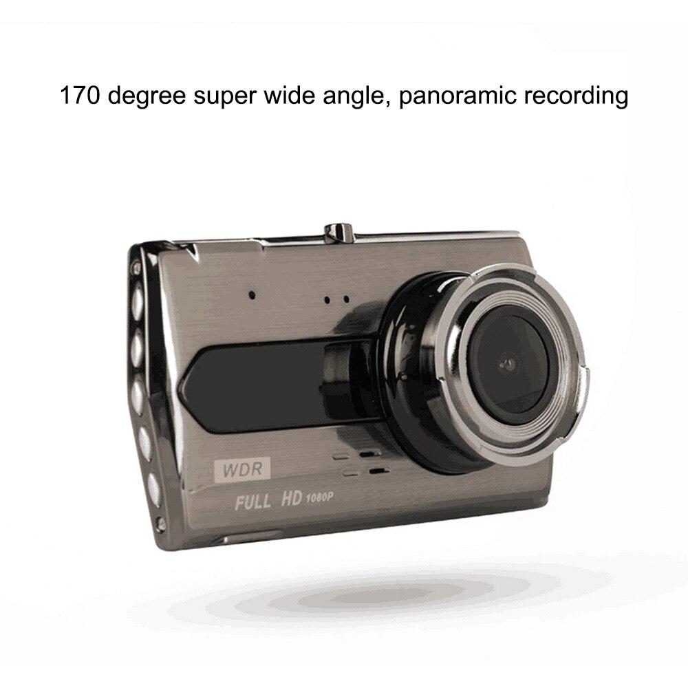 4,0 дюйма 1080P HD Автомобильная DVR камера с обратной камерой ИК ночного видения Авто Вождение видео рекордер 12.0MP Автомобильная Даш камера