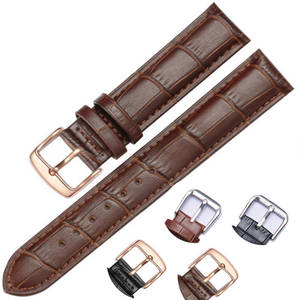 Leather-Strap Watch Bracelet 16mm 18mm Brand Replacement-Cow for 20mm 22mm Women