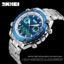 Luxury SKMEI Waterproof Men's Watches Full Steel Quartz Analog Digital LED Casual Military Sport Watch Male Relogio Masculino