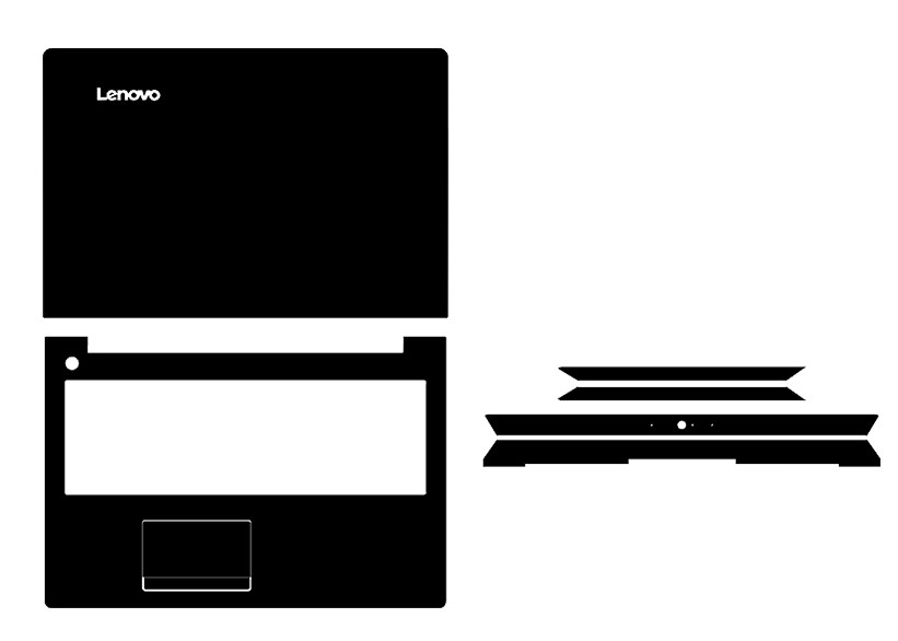 محافظ مخصوص فیبر کربن وینیل مخصوص محافظ پوست Lenovo IdeaPad 310-15ISK 310-15IKB 310-15 15.6 اینچی