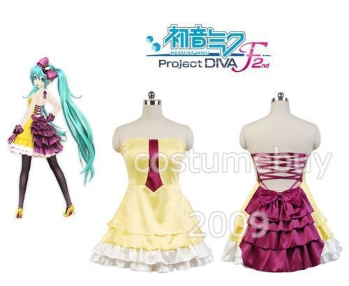 """Vocaloid Project DIVA-F 2nd Hatsune Miku Cosplay Costume""""Siren""""Suit Dress Outfit Halloween Carnival Costumes"""