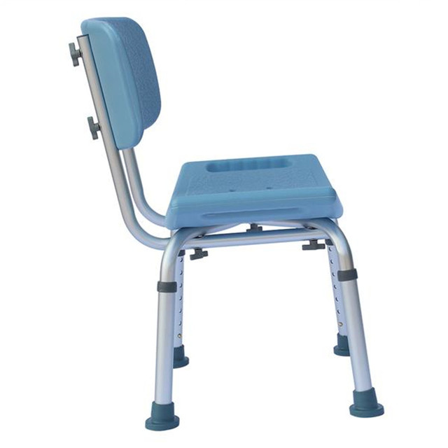Heavy-duty aluminum alloy old people backrest bath chair cst-3012 blue old people aimchair for bathroom rest home