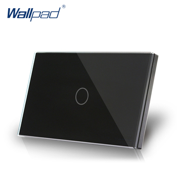 Dimmer Wallpad US/AU Standard Touch Dimmer AC 110~250V Glass Black Wall Switch 500W Dimmerable Incandescent LED Light Switch wholesale polo luxury wall switch light switch sound and light control time delay switch champagne black color ac 110 250v