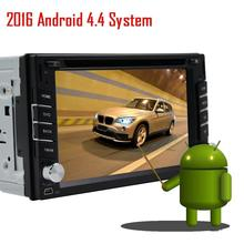 Android 4.4 HD Quad core CPU 2 DIN 6.2 INCH universal car radio gps Navigation DVD Player with wifi gps car stereo audio USB