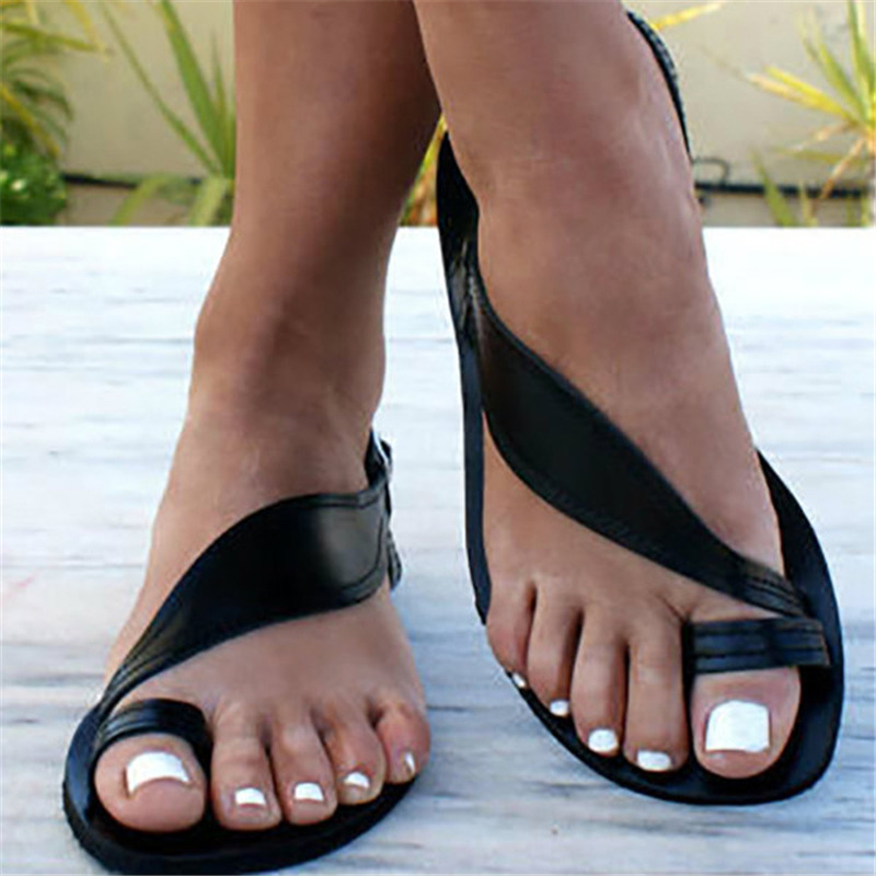 <font><b>Sandals</b></font> Women <font><b>Flat</b></font> Bohimia <font><b>Sexy</b></font> Party Summer <font><b>Sandals</b></font> Shoes Ladies Girls Gladiator Design <font><b>Sandals</b></font> Shoes Plus Size 34-43 image