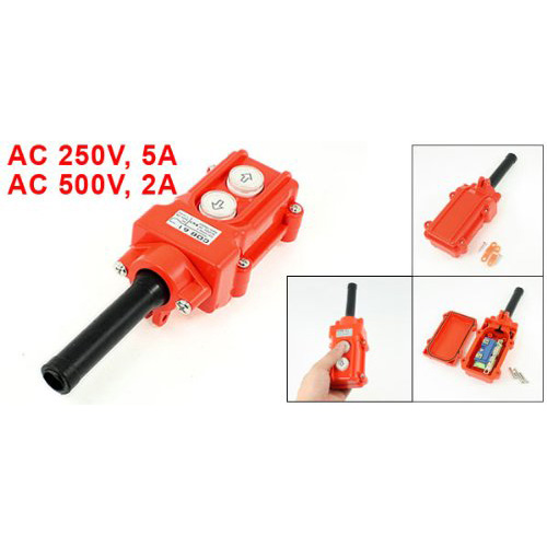 цена на LHLL-New Orange Water Proof Hoist Crane Pendant Up Down Station Pushbutton Switch