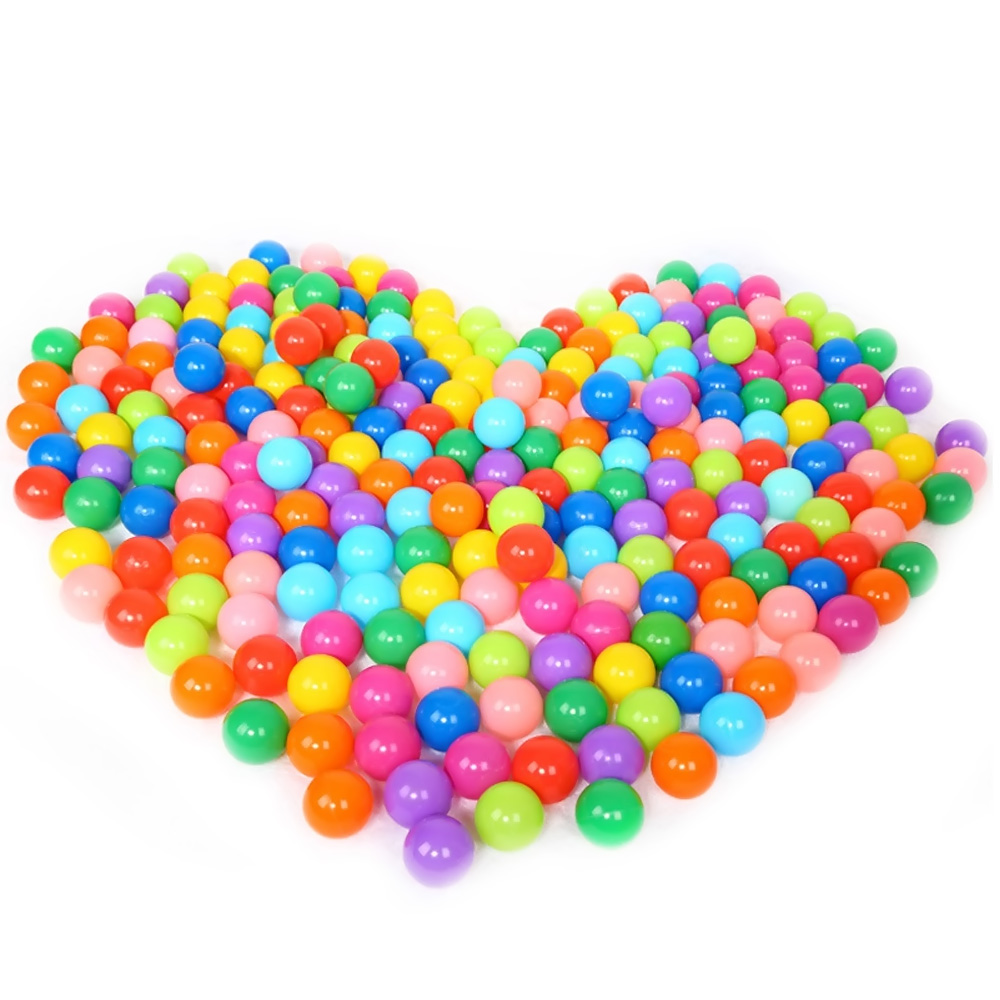 100 PCS Kids Babies Children Colorful Plastic Pit Balls Playing for Ball Pits Bounce Houses Play Tents Kiddie Pools Playhouses