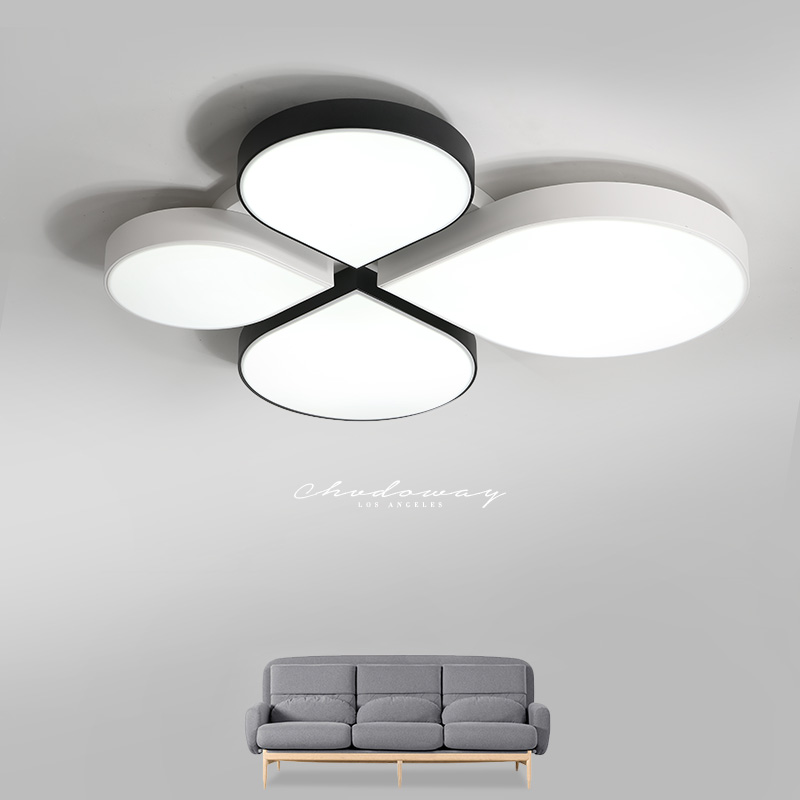 Supply Living Room Lamp Bedroom Lamp Simple Modern Romantic Wedding Creative Led Lamp Four-leaf Clover Iron Acrylic Ceiling Lamp Waterproof Ceiling Lights Shock-Resistant And Antimagnetic Lights & Lighting