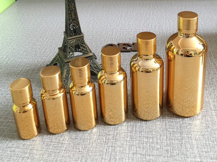 high grade 100pcs gold glass 10ml essential oils bottle with cap  wholesale 83aa68b18df9