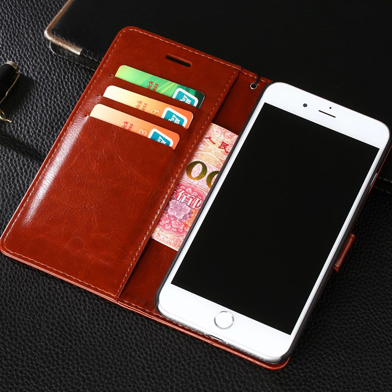 Toraise Vintage Wallet PU Leather Flip Cover Case For iPhone 8 iPhone 7 7 Plus 6s 6 Plus Card Phone Case For iPhone 5 5S SE X