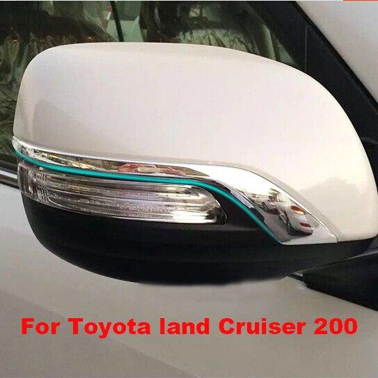 Luhuezu ABS Chrome Rear View Side Mirror Cover Trims For Toyota Land Cruiser 200 FJ200  2010-2016
