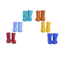 Fleta Free shipping Leather boots for 18inch american doll accessories Holiday gift(China)