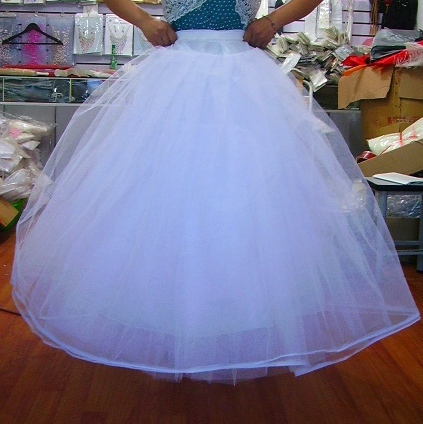 New Fashion Hoopless Layers Tulle Ballgown Wedding Bridal Petticoat Underskirt for Wedding Free Shipping