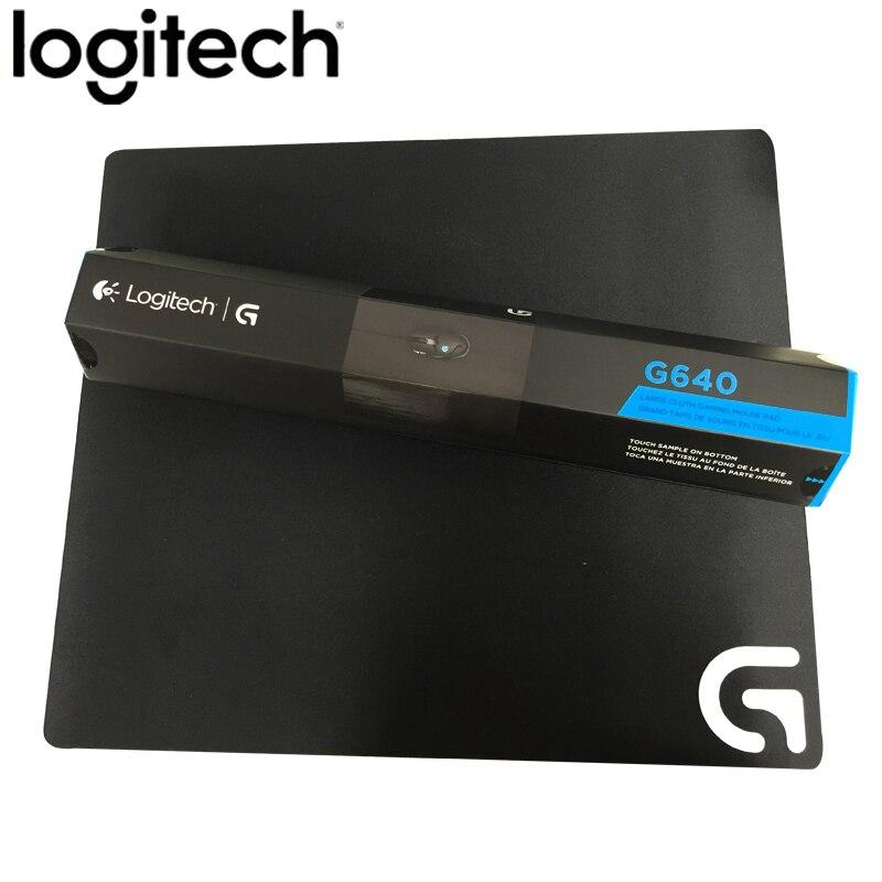 Tapis de souris de jeu Logitech G640 grand tissu Original tapis de souris Gamer tapis de souris de compétition fond en caoutchouc Logitech G502 G400 G600