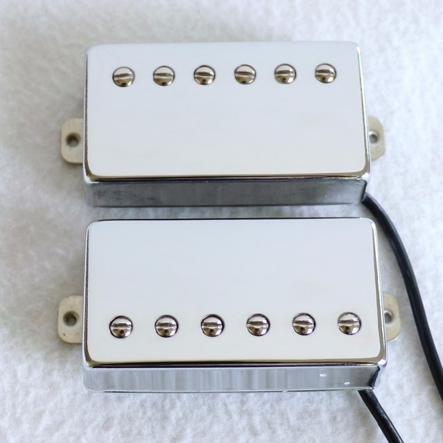 Bán 1 Bộ Wax chậu PAF phong cách Nickel bạc baseplate Lọc Sắt 5 lp guitar pickup