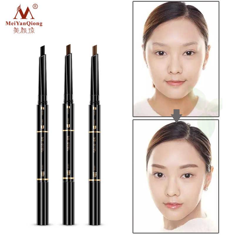 Воздушная подушка триадный карандаш для бровей водостойкая стойкая треугольник натуральный макияж карандаш для подводки бровей с Кисточки для макияжа 3в1