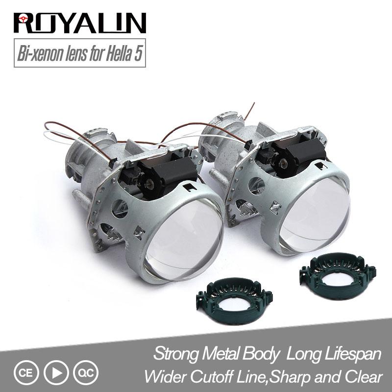 ROYALIN Métal Hella 3R G5 Bi Xenon Phares Lentille D2S Lumières Projecteur Universel lampe voiture D1S D2H D3S D4S Ampoules Moteurs rénovation